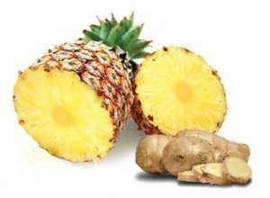 Pineapple and Ginger Juice for Warts
