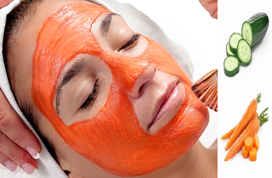 Cucumber and Carrot Face Pack