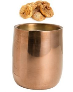 copper cup with figs